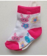 NWT BUNNY & FLOWER SOCKS Size 2 - 4 Toddler Baby CUTE - $6.79