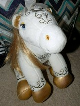 Build-A-Bear-White-and-Gold-Enchanted-Magic-Blonde-Pony-Horse With Gold ... - $24.00
