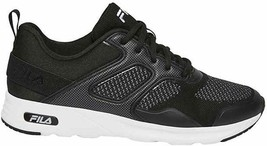 Brand New Women's Fila Black White Memory Foam Frame V6 Athletic Running Shoes