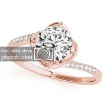 0.98 Carat White Diamond 14k Rose Gold Over 925 Engagement Wedding Ring - $52.91
