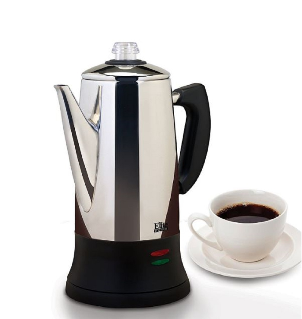 Electric Coffee Percolator Quick Brew 12 C Coffeemaker Coffeepot Stainless Steel