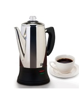 Electric Coffee Percolator Quick Brew 12 C Coffeemaker Coffeepot Stainle... - $58.49
