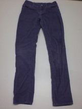 K5026 Girls GAP KIDS Purple Stretch Corduroy SKINNY PANTS 8 SLIM - $25.09