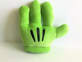 Disney Parks Mickey Mouse Green Plush Left Hand Glove Mitt - $14.01