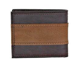 Levi's Men's RFID Blocking Two Tone Bifold ID Logo Brown Wallet 31LV240017 image 3