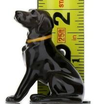 Hagen Renaker Dog Labrador Retriever Sitting Black Ceramic Figurine image 2