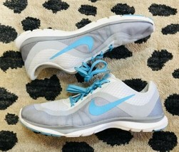 Nike Training Flex TR 6 Women's Running Shoes Size 10 Gray Turquoise Ath... - $39.59