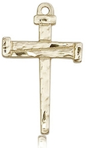 NAIL CROSS - 14KT Gold Medal - NO CHAIN - 0013