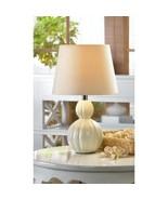 2 Lovely MINI Lamp White Ivory Ceramic Base Table Lamp - Set - $38.38