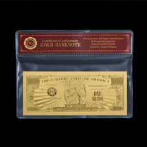 WR Gold US Banknote $1 Million American Gold Foil Bill Big Value In Sleeve - $5.70