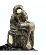 Baktrisches Stein Affe Eingelegt Mit Alabaster Augen Amulet Authentic Br... - $805.93