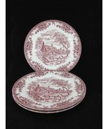 Churchill England The Brook Pink Dinner Plates ... - $21.00
