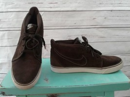 Men's Nike Shoes Size 9.5 Brown Suede Khaki Boots Trainers Shoe Ankle Lace up - $37.04