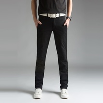 2018 Spring Thin Men's Trousers Long Slim Fit Pants Men 2018 Solid Male Casual P image 3
