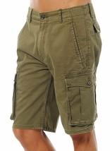 Levi's Men Premium Cotton Cargo Shorts Original Relaxed Fit Green 124630008
