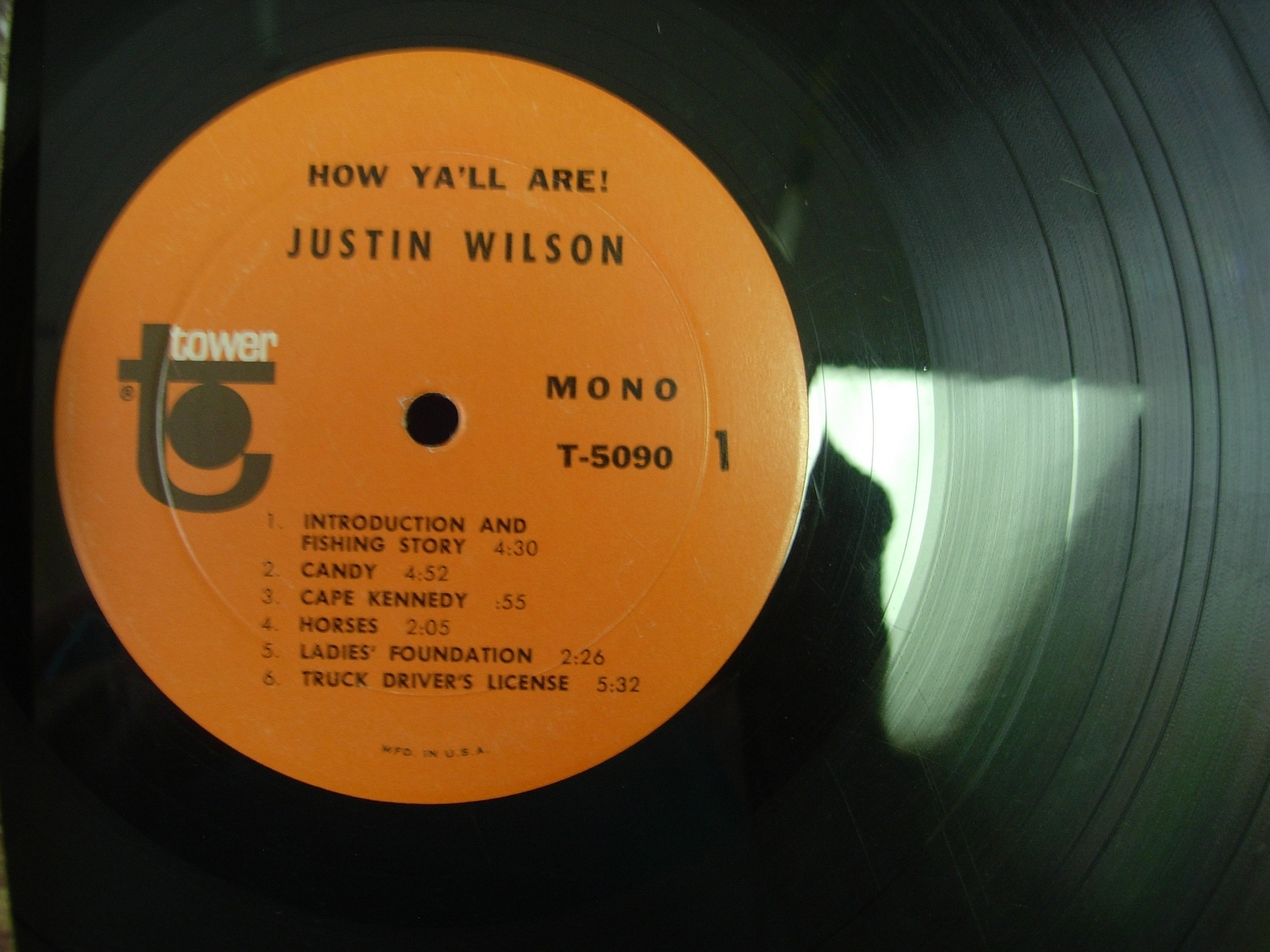 Justin Wilson - How Y'all Are! - Tower Records T-5090