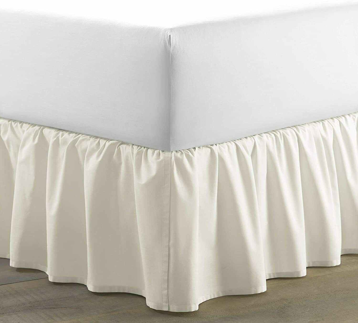 Laura Ashley Home | Solid Collection | Luxury Premium Hotel Bedskirt, Ivory - $28.71