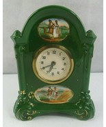 Vintage Small Porcelain Precista Clock Romanesque Romantic Victorian decor - $65.00