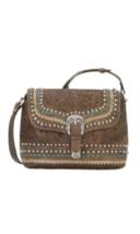 American West- Blue Ridge Flap Crossbody Bag (Distressed Charcoal) - $189.00