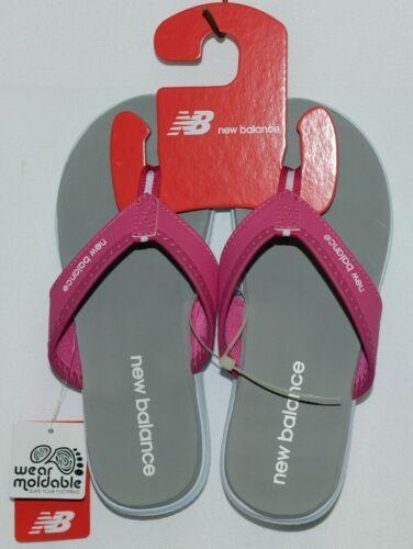 New Balance W6021WPK Womens Jojo Thong Pink White Gray Size 6