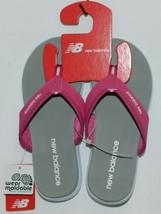 New Balance W6021WPK Womens Jojo Thong Pink White Gray Size 6 image 1