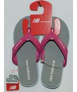 New Balance W6021WPK Womens Jojo Thong Pink White Gray Size 6 - $25.00