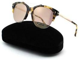 Tom Ford Women Adrenne FT0517 56Z 55 Havana/Gold w/Violet Lens Sunglasses - $168.28