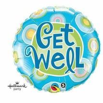 "18"" Get Well Blue Dots (1 ct) Balloon 4 Pack - $5.93"