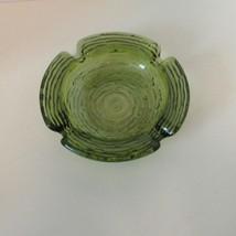 Soreno Green Small Glass Ashtray MCM Vintage Anchor Hocking - $11.87