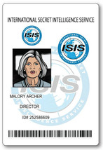 MALORY ARCHER FROM ARCHER ID NAME BADGE TAG PROP HALLOWEEN MAGNETIC BACK - $14.84