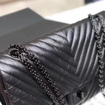 Chanel Black 2.55 Reissue SO BLACK CHEVRON Calfskin 227 Jumbo Double Flap Bag image 7