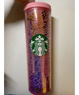 Starbucks 2020 Holiday 16oz Pink Champagne Bubble Tumbler Traveler - $37.50