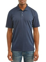 George Men's Short Sleeve Solid Polo Size 3XL (54-56) Blue Cove No Roll ... - $11.63