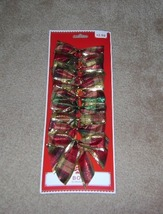 Holiday Time Plaid Bows Set of 10 - ₨192.75 INR