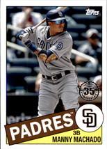 2020 Topps 1985 35th Anniversary #85-82 Manny Machado San Diego Padres  - $4.95