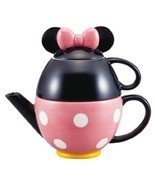 New Disney Minnie Mouse tea set pot and mug cup... - $78.62