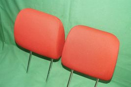 10-13 Kia Soul Front Cloth 2 Headrests Headrest Set RED image 4