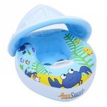 Baby Swim Ring Thick PVC Children Crab Adjustable Sunshade Float - $24.36