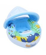 Baby Swim Ring Thick PVC Children Crab Adjustable Sunshade Float - $462,51 MXN
