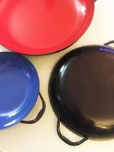 Vintage 70s set of 3 Emo Celje Enameled Nesting Sautee Pans image 5