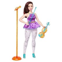 Barbie and the Rockers Violinist Doll Curvy Red Hair and Violin Red hair - $18.76