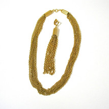 Multiple Strand Tassel Necklace, Removeable Tassel, Convertible Necklace... - $21.00