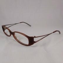 ANNE KLEIN Eyeglass Frames AK8049 136 Brown Metal Plastic Full Rim Eyewear Frame - $17.96