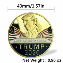 Keep America Great 2020 Donald Trump Commemorative Gold Coin American President  image 2