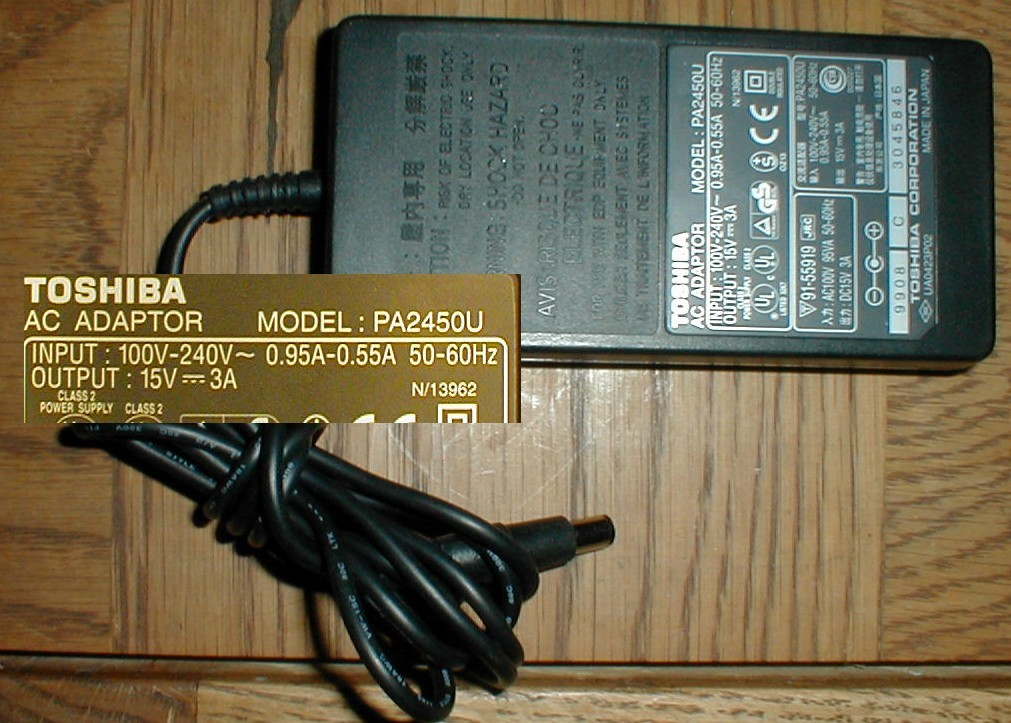 Pa2450u ac adapter overview