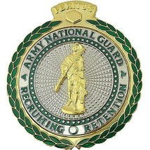 GENUINE NEW U.S. ARMY IDENTIFICATION BADGE: ARNG RECRUITING AND RETENTIO... - $49.48