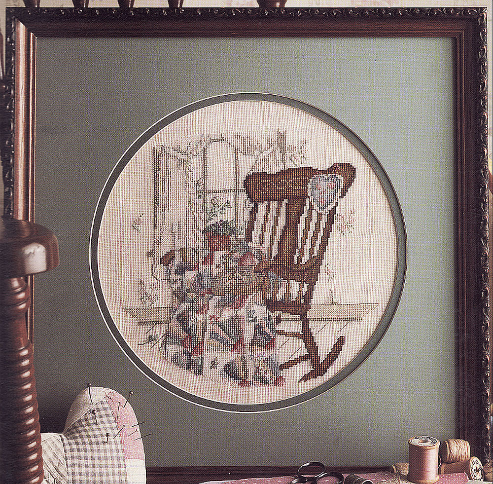 Primary image for Vintage Cross Stitch Needlewoman Series The Quilter Paula Vaughan Pattern