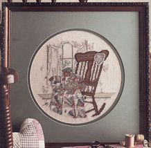 Vintage Cross Stitch Needlewoman Series The Quilter Paula Vaughan Pattern - $11.99