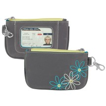 Travelon RFID Blocking Daisy Zip ID Pouch, Pewter - $12.74