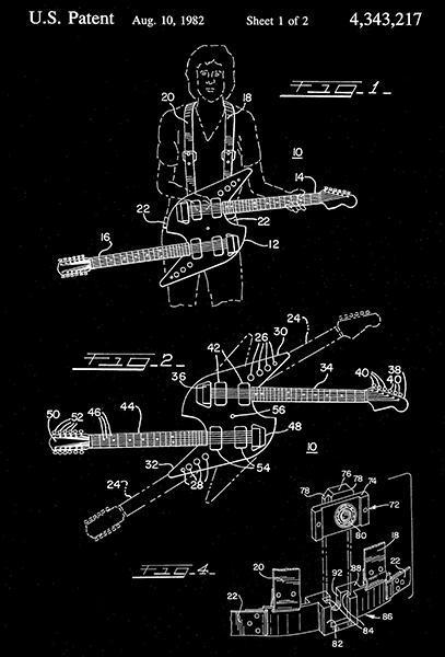 1982 - Dual Mode Guitar - R. Brody - Patent Art Poster - $9.99 - $64.99